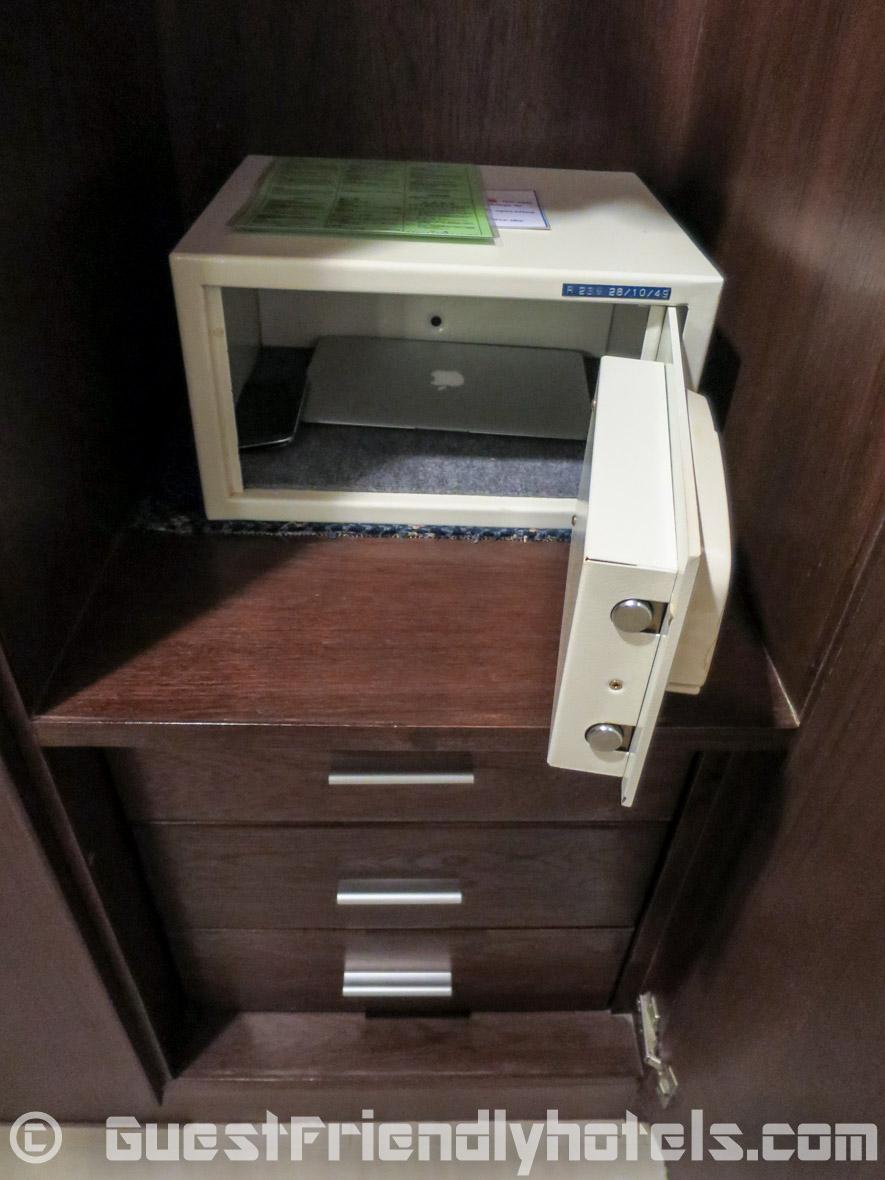 A small room safe is found wardrobe at Coconut Village Resort