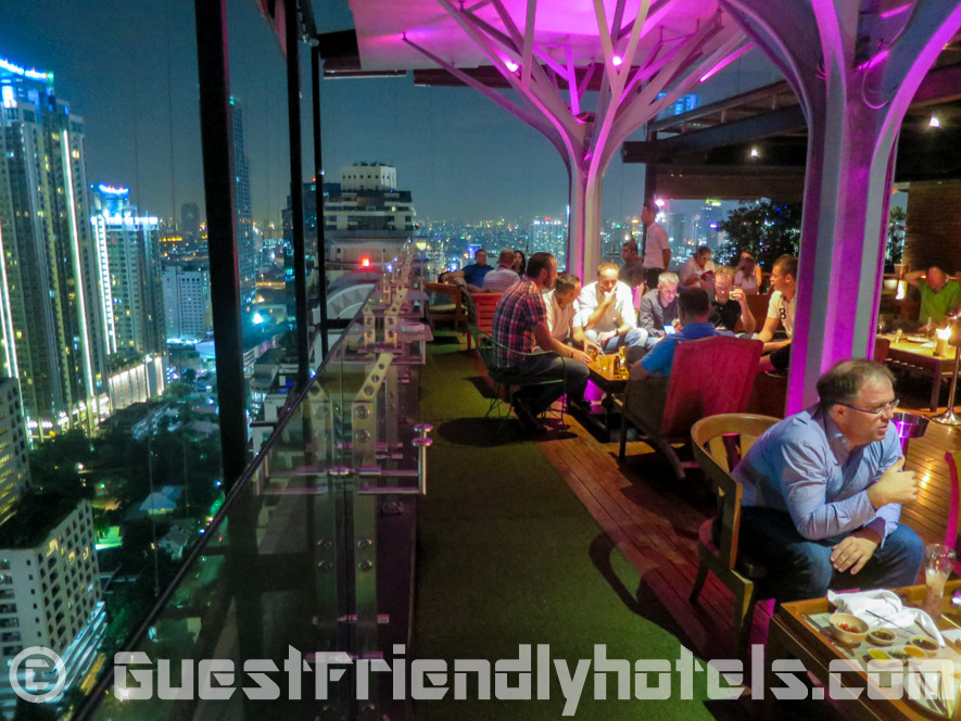 Above Eleven rooftop bar and restaurant at Fraser Suites