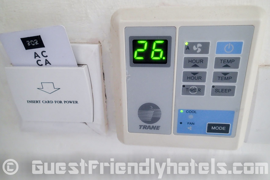 Air-con control in Acca Patong Hotel