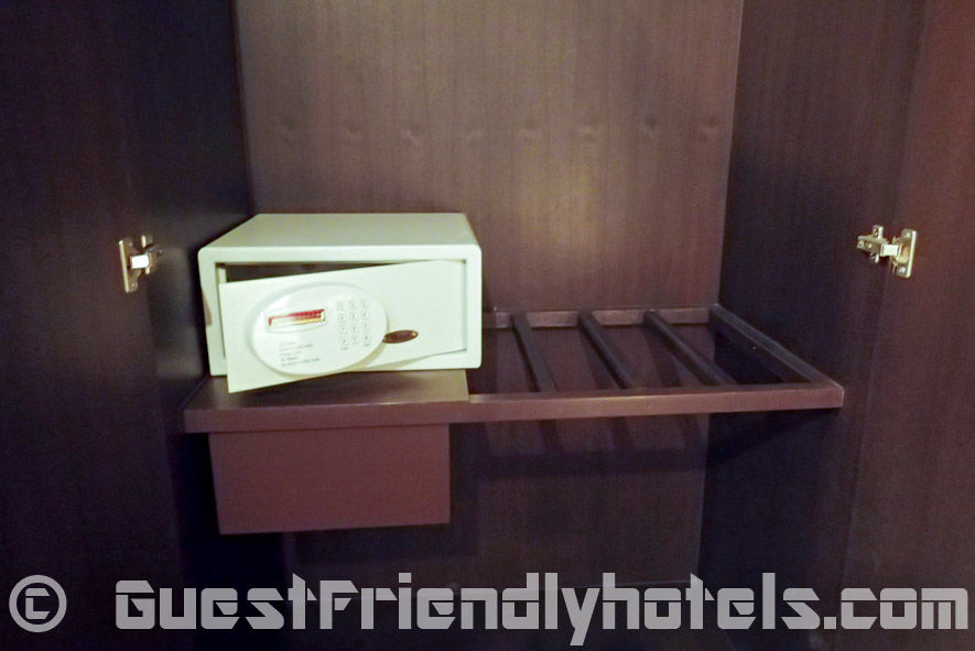 All rooms come with a small safe that you can find in the wardrobe of Apsara Residence