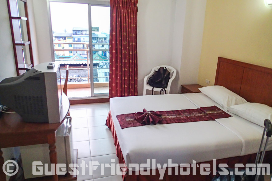 All the rooms also have a small balcony in Eastiny Seven Hotel_