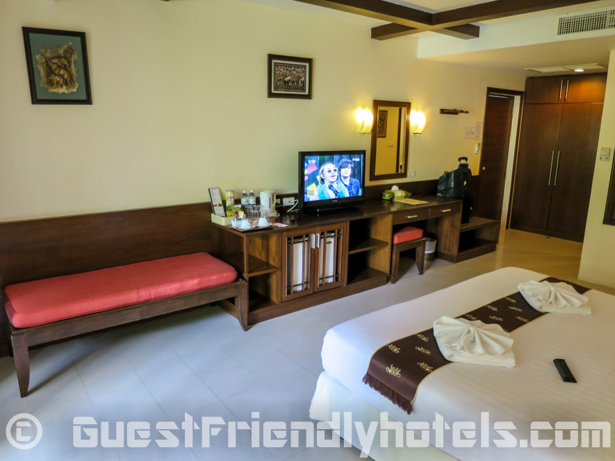 Amenities iniside my deluxe room at Coconut Village Resort in Patong