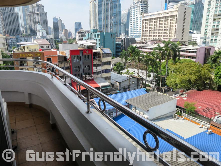 Balcony view in SM Grande Residence Bangkok