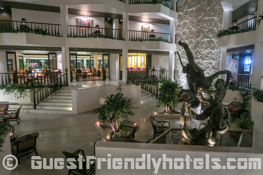 Beautifully done hotel interior design at the Siam Bayshore Resort and Spa