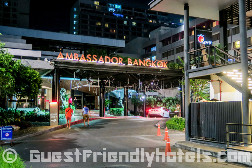 Car park entrance in Ambassador Hotel Bangkok