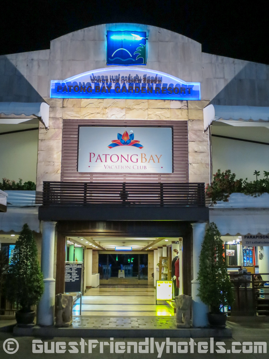 Entrance from the road to Patong Bay Garden Resort