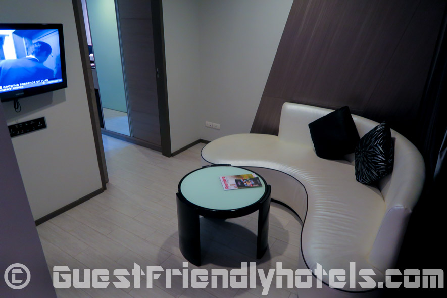 Extra room with couch found in Studio King rooms at Best Western Premier Sukhumvit