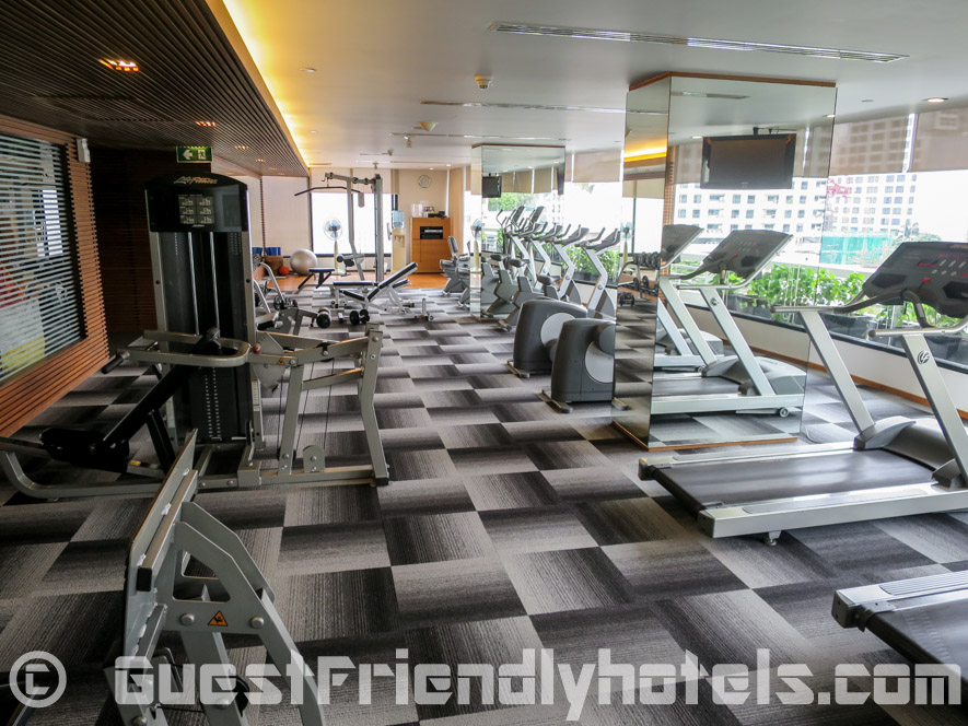 Gym inside Fraser Suites Bangkok