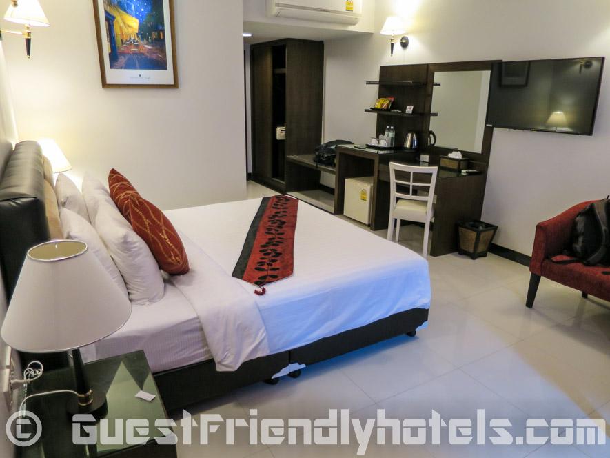 Layout of my Superior Balcony room in Blue Sky Hotel Pattaya_