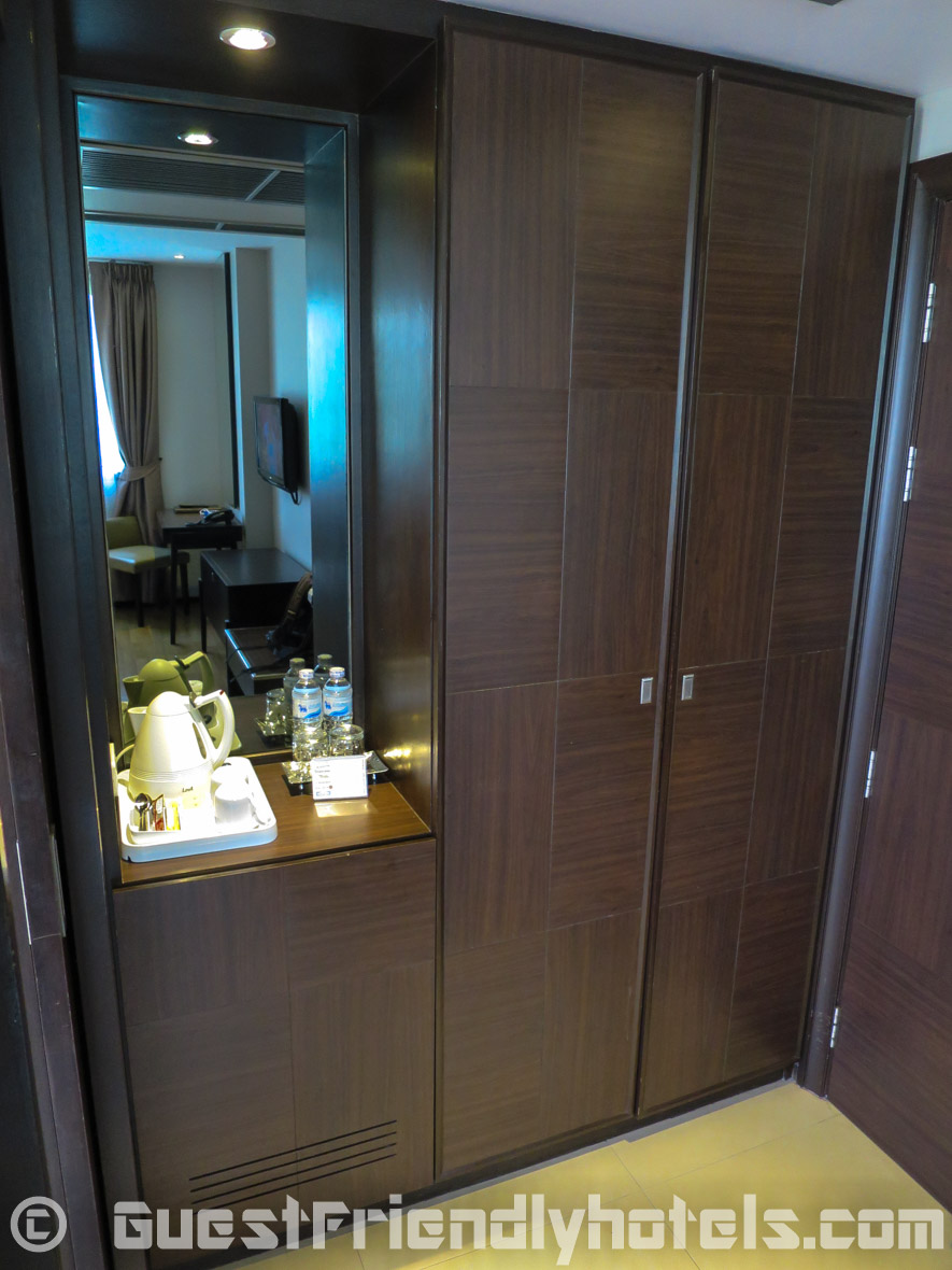 Room closet in Dawin Bangkok Hotel