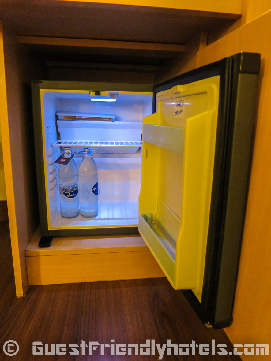 Small room mini-bar inside Ibis Pattaya Hotel