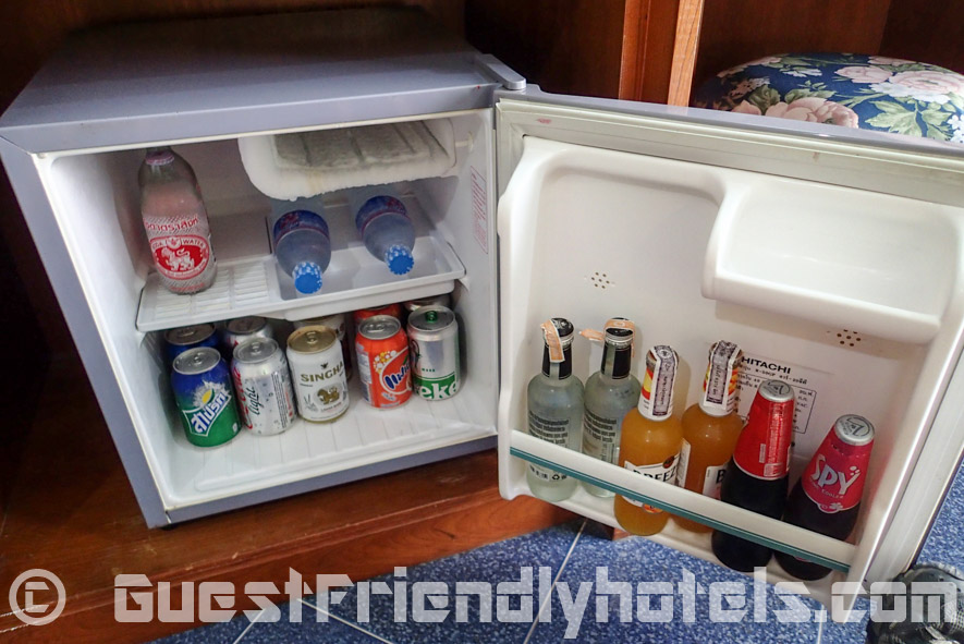 Stocked room mini-bar in Anchalee Inn Hotel