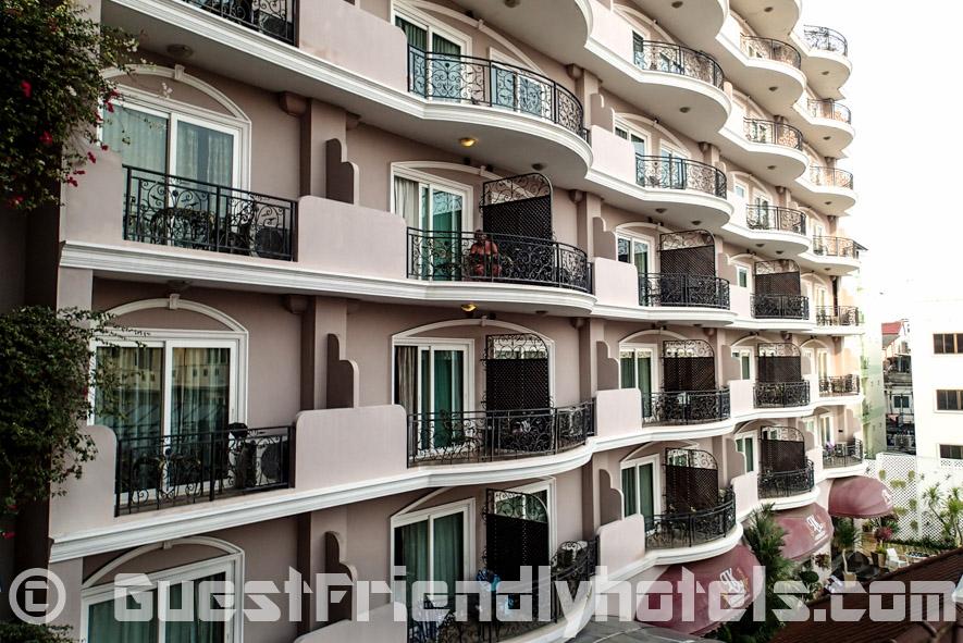 Studio Balcony layout at LK Metropole hotel