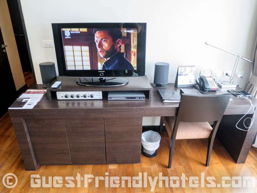 TV in the living room with DVD and home cinema in Fraser Suites Sukhumvit