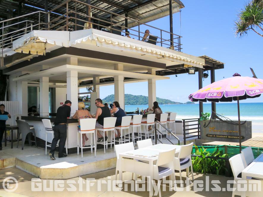 The beachfront Bikini Bar and restaurant on two floors in Patong Bay Garden Resort