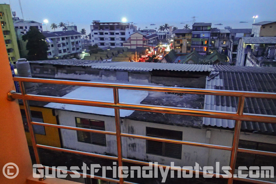 View of from my balcony of Soi 7 and Sea View in the back inside Eastiny Seven Hotel_