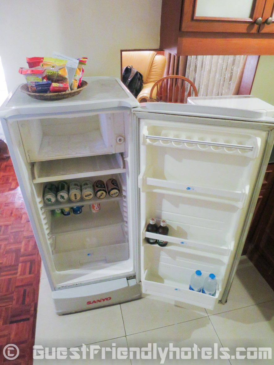 big appartment sized refrigerator in Royal Ivory Sukhumvit Nana -Deluxe King room