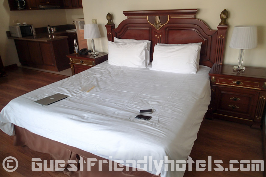 lovely big and comfy bed at LK Metropole in Pattaya