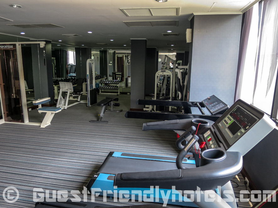one of the fitness rooms inside the Grand President Hotel Bangkok
